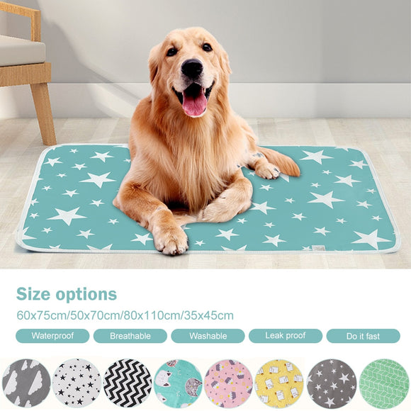 Absorbent Environment Protect Diaper Mat Waterproof Washable Reusable Training Pad Dog Car Seat Cover Dog Pet Diaper Mat