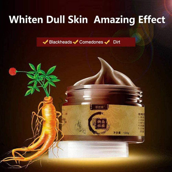 Ginseng Peel Off Mask, whitening  Pore  peel off  Panax  herbal  glow  Ginseng  facial  deep pores  Clean  blackheads  beautiful  Authentic  antioxidant  anti wrinkle  anti aging  acne spot remover  acne remover  acne