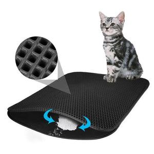 Waterproof Pet Cat Litter Mat Double Layer Litter Cat Pads Trapping Pets Litter Box Mat Pet Products Bed For Cats House Clean - Authentic Option
