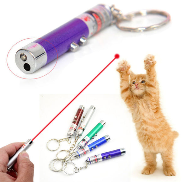 LED Light Laser Toys Red Laser Pen Tease Cats Rods Visible light Laserpointer Funny Interactive Goods For Pets Random Colors