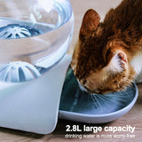 Automatic Bubble Water Dispenser for Cat Gravity Waterer Bowl Dispenser Dog Feeder Drinking Fountain Feeders Large Capacity 2.8L