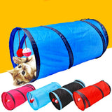 Cat Tunnel Toy Funny Pet 2 Holes Play Tubes Balls Collapsible Crinkle Kitten Toys Puppy Ferrets Rabbit Play Dog Tunnel Tubes - Authentic Option