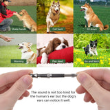 1Pc Pet Dog Cat  Training Obedience Stop Barking Whistle Supersonic Sound Obedience Quaiet Trainning