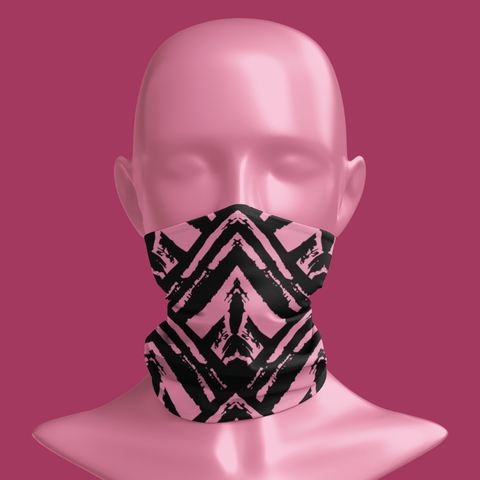 BGBC Tribal Black & Pink Neck Gaiter