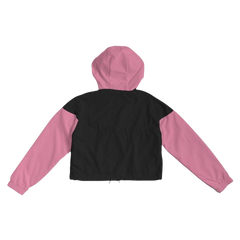 #BlackGirlBoss Women's Cropped Windbreaker