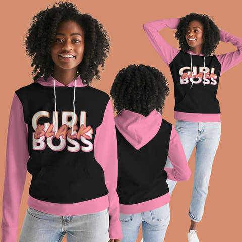 #BlackGirlBoss Statement Women's Hoodie