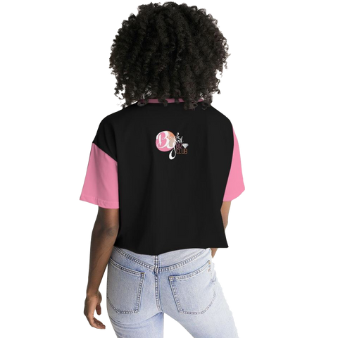 #BlackGirlBoss Statement Women's Lounge Cropped Tee