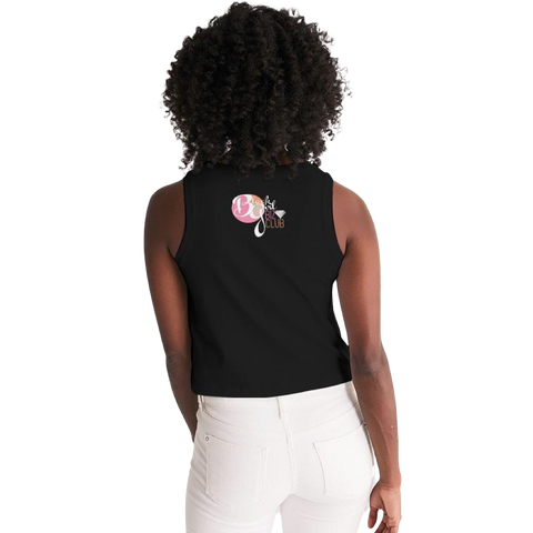 #BlackGirlBoss Black & Tan Women's Cropped Tank