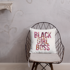 #BlackGirlBoss Spring Foliage Throw Pillow