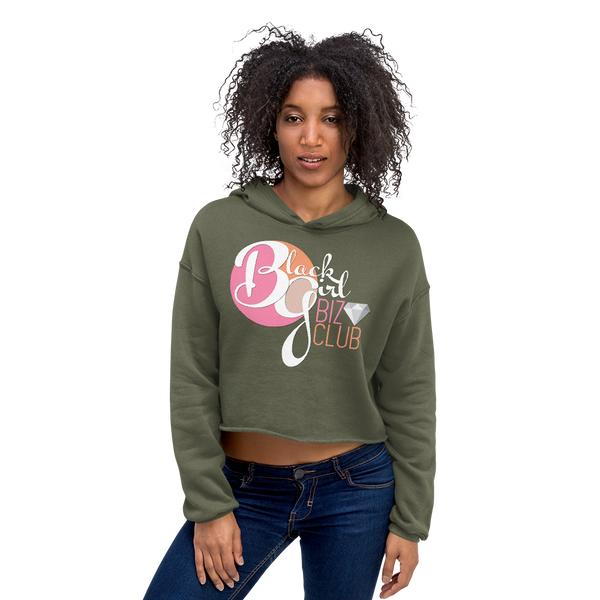 Black Girl Biz Club™ Black Logo Crop Hoodie