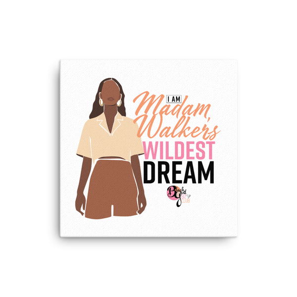 Her Wildest Dreams Madam Walker Mounted Canvas