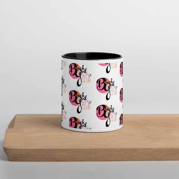 Black Girl Biz Club™ Mug with Black Color Inside