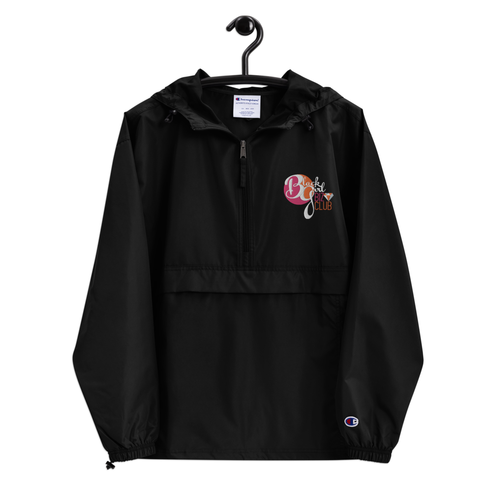 Black Girl Biz Club™ Dark Style Embroidered Champion Packable Jacket