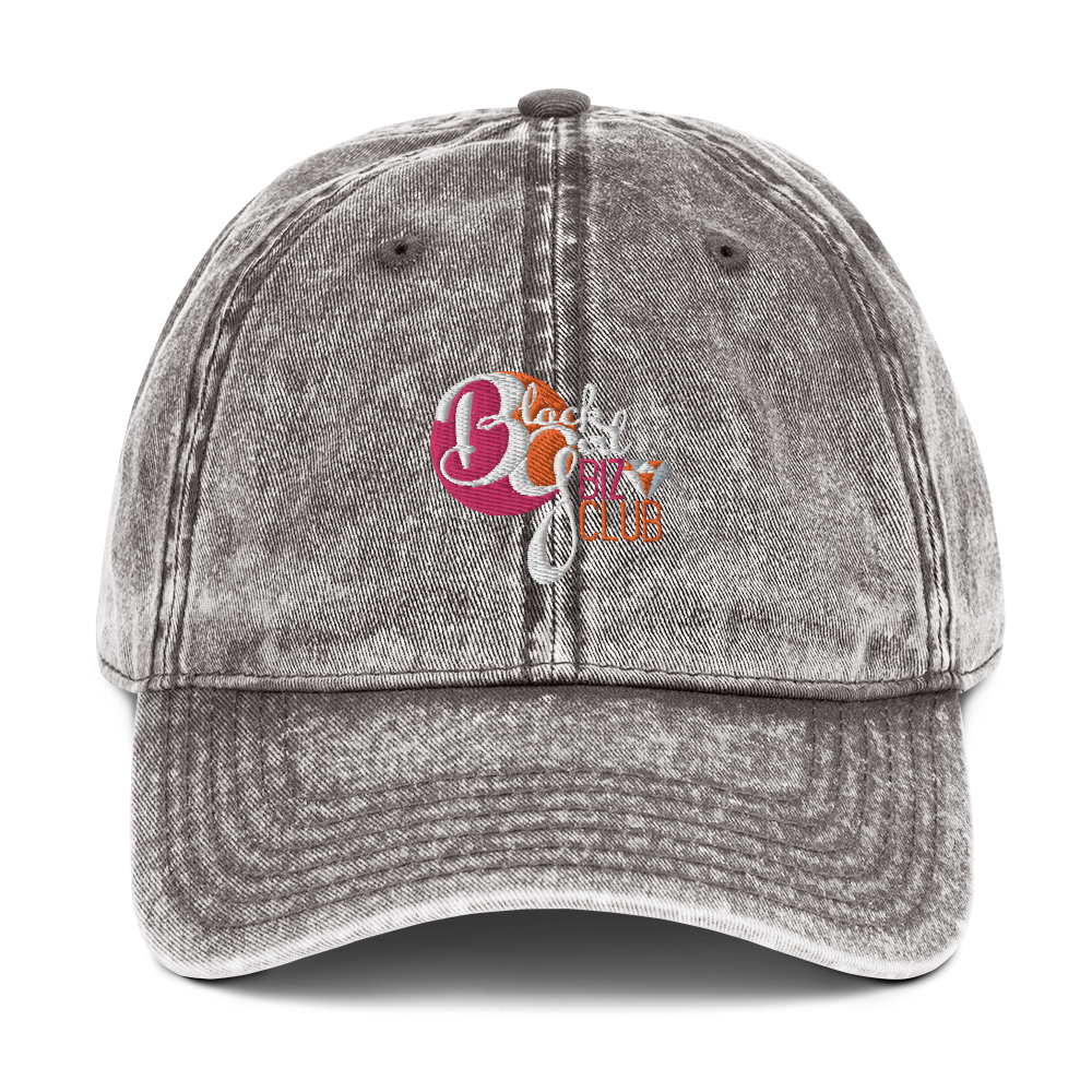 Black Girl Biz Club™ Vintage Cotton Twill Cap