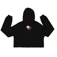 Load image into Gallery viewer, #BlackGirlBoss Glitter Style Crop Hoodie