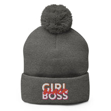 Load image into Gallery viewer, #BlackGirlBoss Statement Pom-Pom Beanie