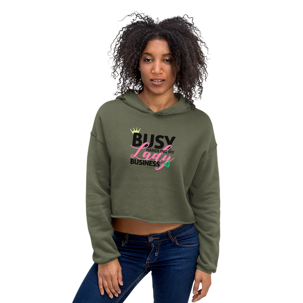 My Lady Business Crop Hoodie
