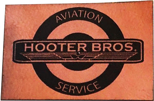"""Hooter Brothers Aviation Service"" Morale Patch, Leatherette by Ruck & Rotor"