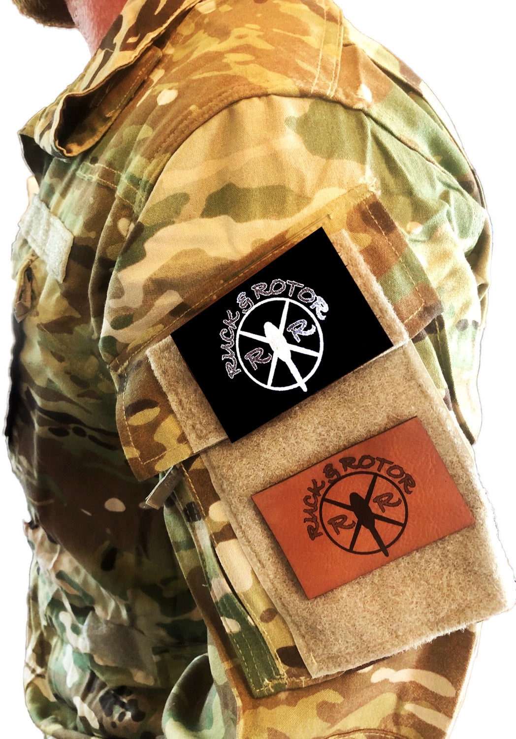 """Ruck & Rotor"" Logo Morale Patch, Leatherette by Ruck & Rotor"