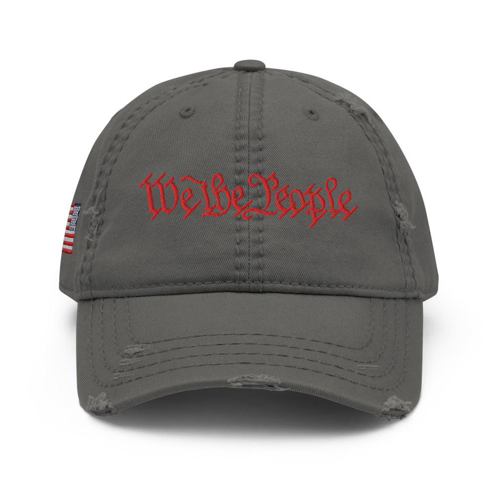 We the People Embroidered Distressed Dad Hat by Ruck & Rotor