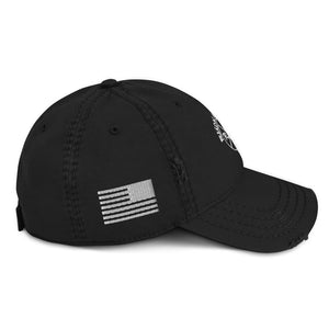 Ruck & Rotor w/USA Flag Distressed Hat Black or Blue