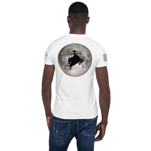 Full Moon AH-64 Apache Back Design Short-Sleeve Unisex T-Shirt by Ruck & Rotor