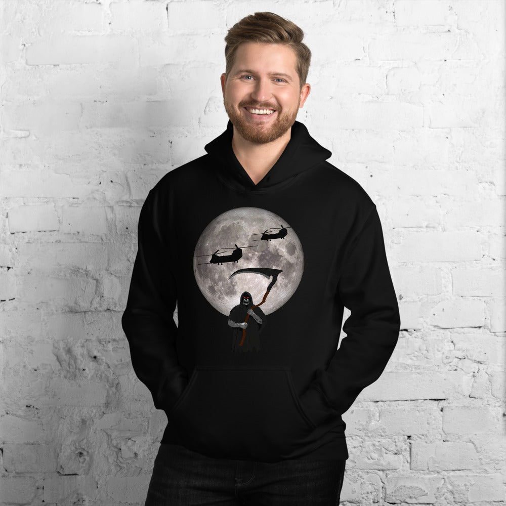 MH-47 Chinook Reaper Moon Unisex Hoodie by Ruck & Rotor