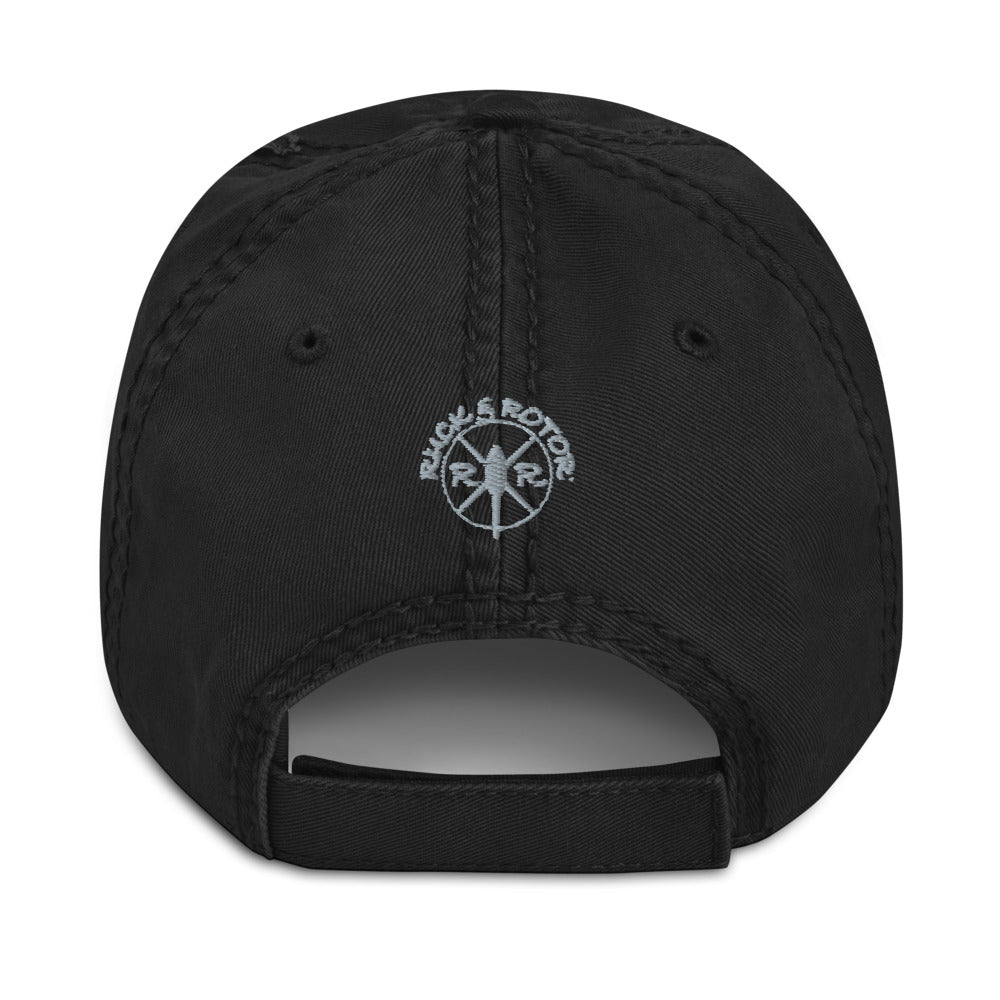 MH-60 Black Hawk Distressed Black Hat by Ruck & Rotor