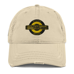 Hooter Bros Aviation Service w/USA Flag Embroidered Distressed Dad Hat by Ruck & Rotor