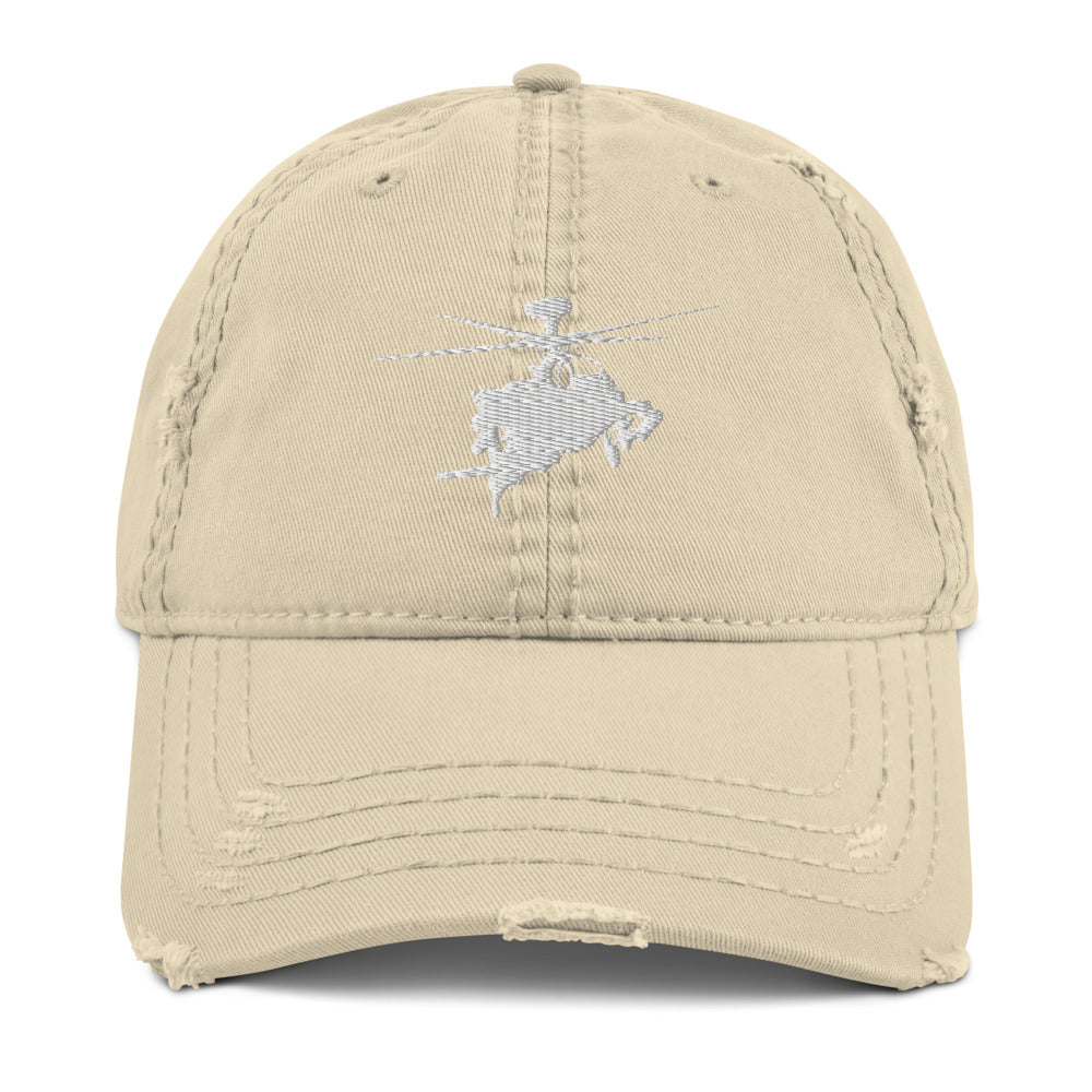 AH-64 Apache Helicopter Embroidered Distressed Hat by Ruck & Rotor
