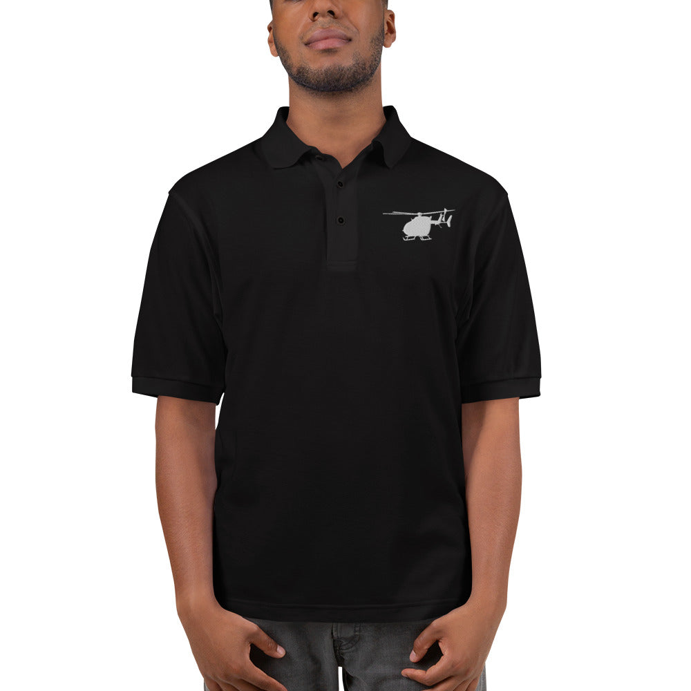 UH-72 Lakota Helicopter Embroidered Men's Premium Polo by Ruck & Rotor