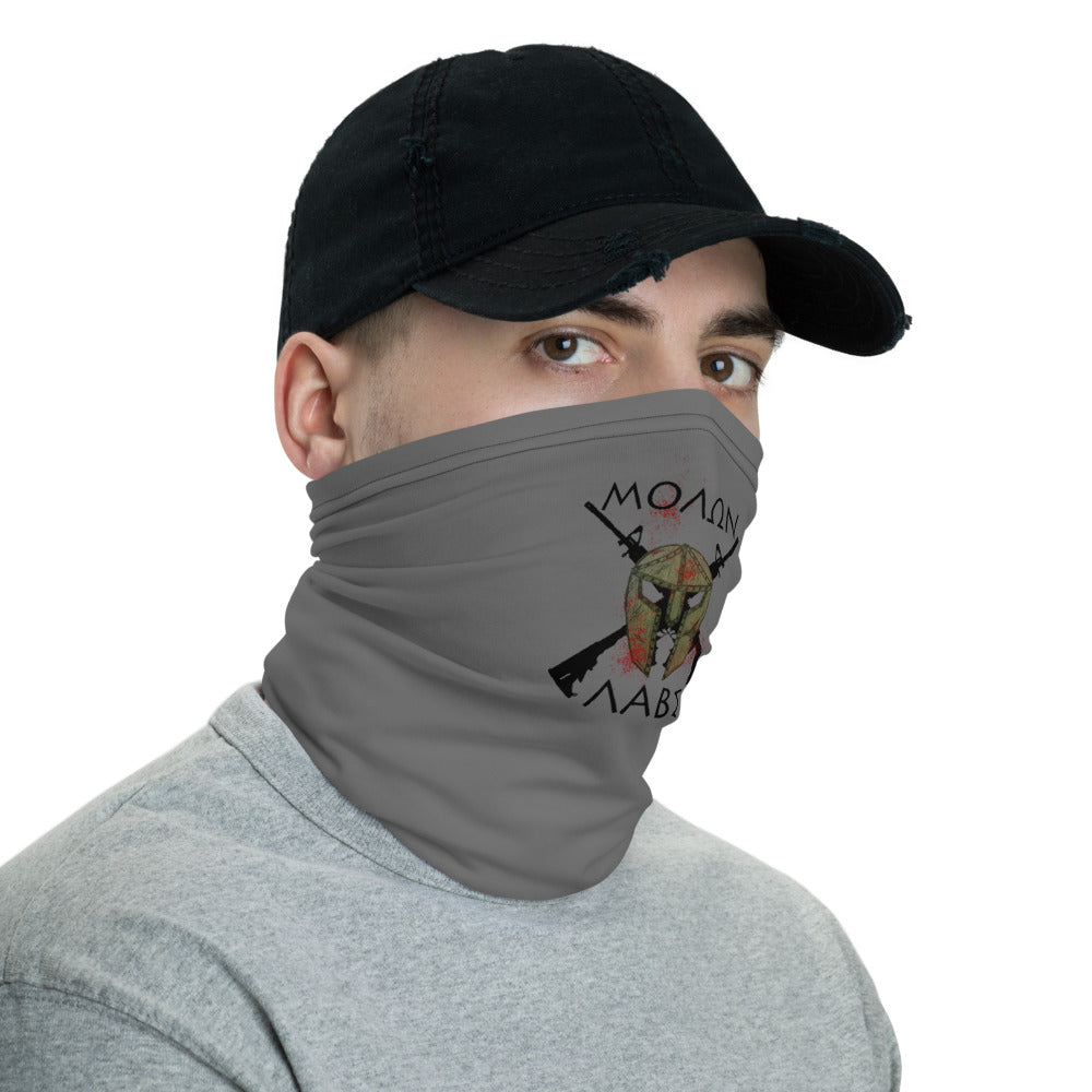 """Molon Labe"" Neck Gaiter Face Mask by Ruck & Rotor"