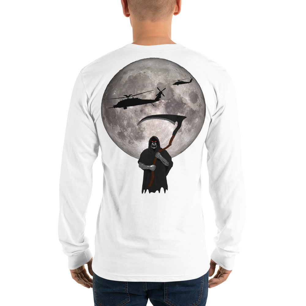MH-60 Black Hawk Reaper Moon Long sleeve t-shirt by Ruck & Rotor