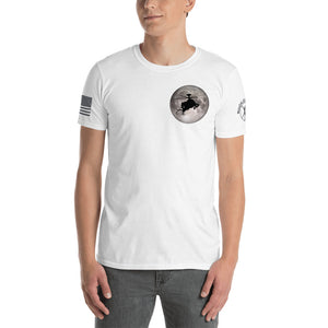 Full Moon AH-64 Apache Short-Sleeve Unisex T-Shirt by Ruck & Rotor