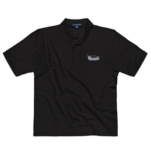 CH-47 Chinook Helicopter Embroidered Men's Premium Polo by Ruck & Rotor