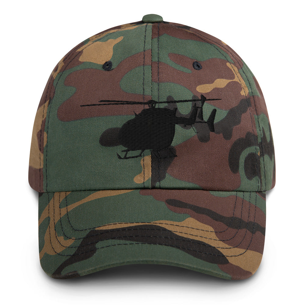 UH-72 Lakota Helicopter Black Embroidery hat by Ruck & Rotor