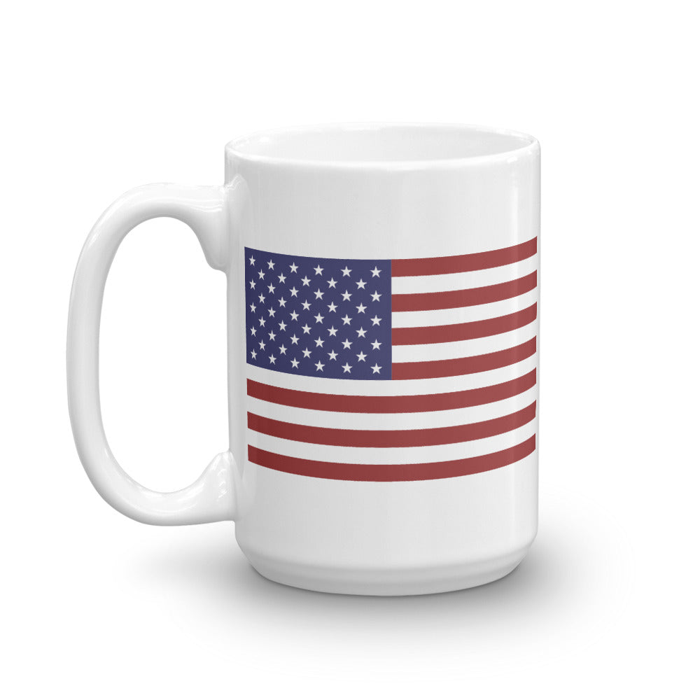"""Green Eyes"" USA Flag Ceramic Mug by Ruck & Rotor"