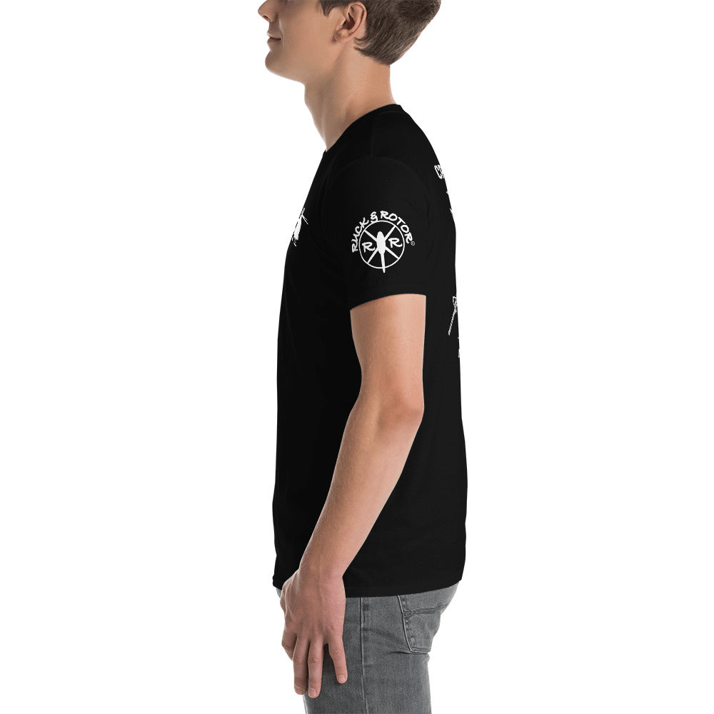 """Crew Chief"" AH-6 Short-Sleeve Unisex T-Shirt by Ruck & Rotor"