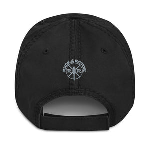 MH-6 Embroidered Distressed Hat, Black by Ruck & Rotor