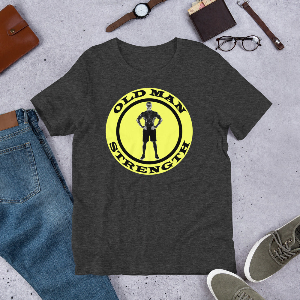 """Old Man Strength"" Short-Sleeve Cotton T-Shirt by Ruck & Rotor"