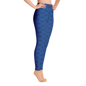V-22 Osprey Inspired Blue Yoga Leggings for Women by Ruck & Rotor