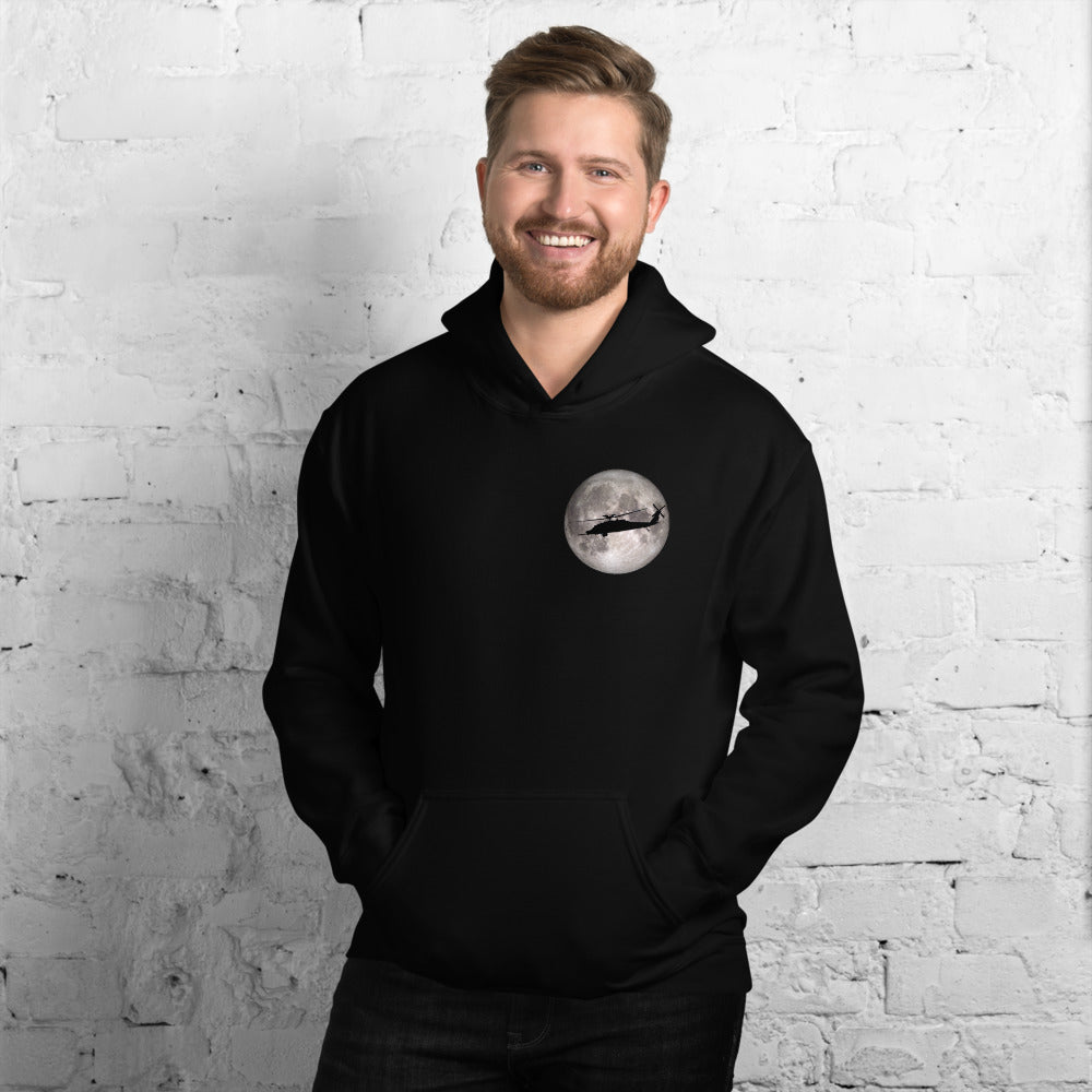 MH-60 Black Hawk Full Moon Unisex Hoodie by Ruck & Rotor