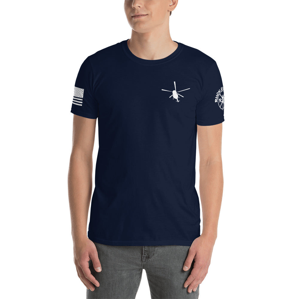 """Crew Chief"" Mi-17 Short-Sleeve Unisex T-Shirt by Ruck & Rotor"