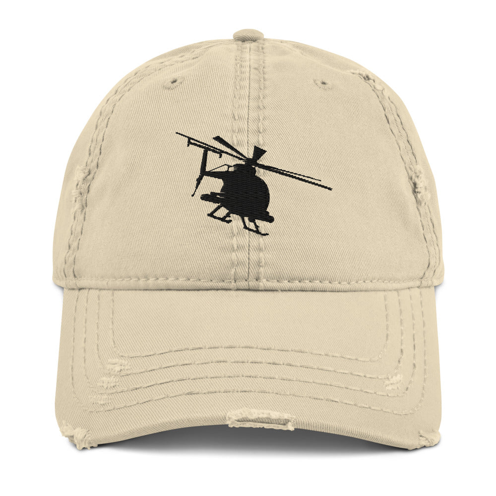 AH-6 Embroidered Distressed Hat, Khaki, Charcoal Grey or Navy by Ruck & Rotor