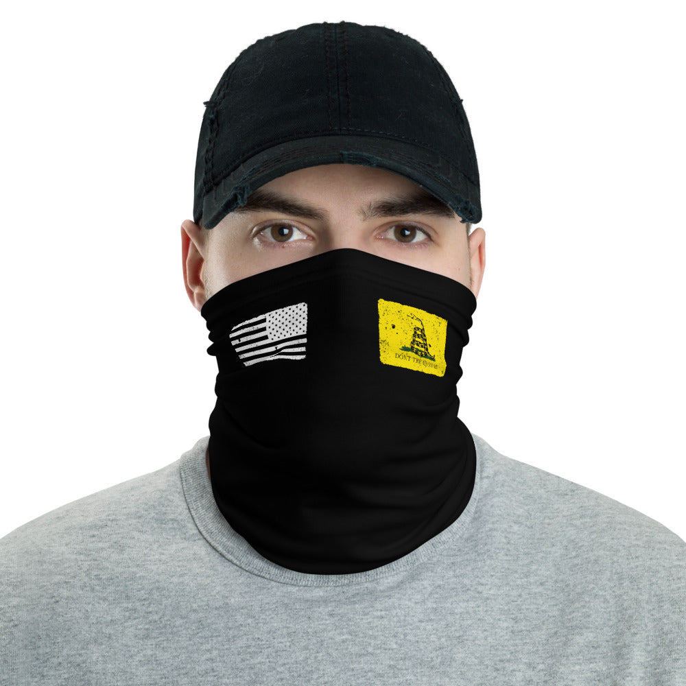 USA Flag Gadsden Flag Neck Gaiter Face Mask by Ruck & Rotor