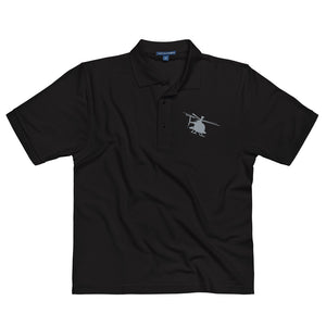 AH-6 Helicopter Men's Premium Polo by Ruck & Rotor