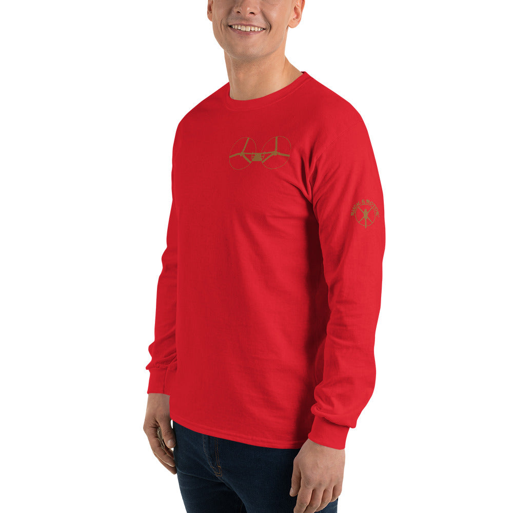 V-22 Osprey Inspired Men's Long Sleeve Cotton Shirt by Ruck & Rotor