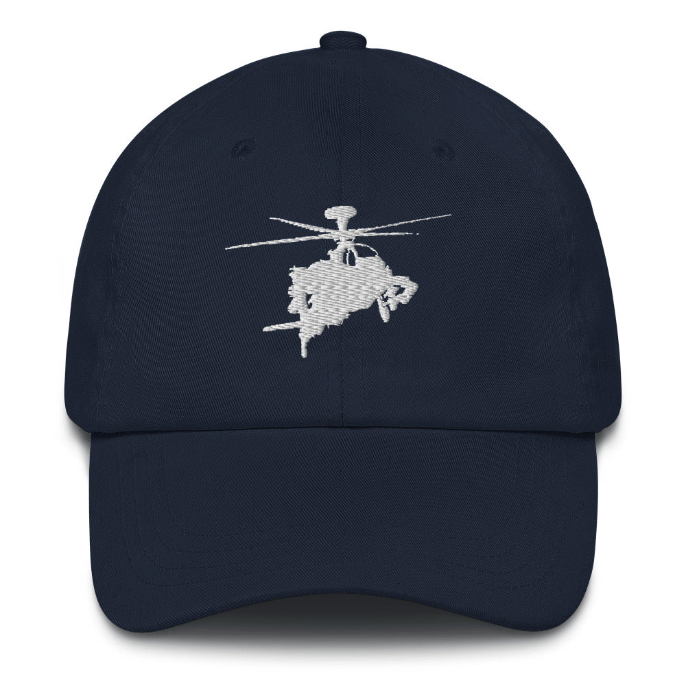 AH-64 Apache White Embroidered Helicopter hat by Ruck & Rotor