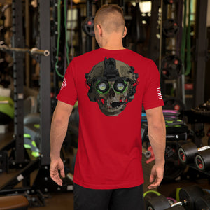 """Green Eyes"" Back Design Short-Sleeve Unisex Cotton T-Shirt by Ruck & Rotor"