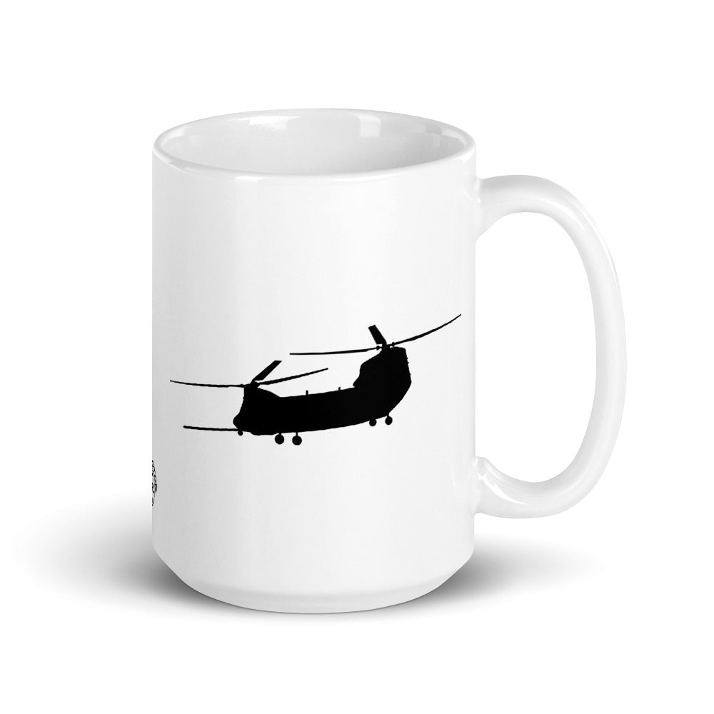 MH-47G Chinook 11oz or 15oz White Ceramic Mug by Ruck & Rotor
